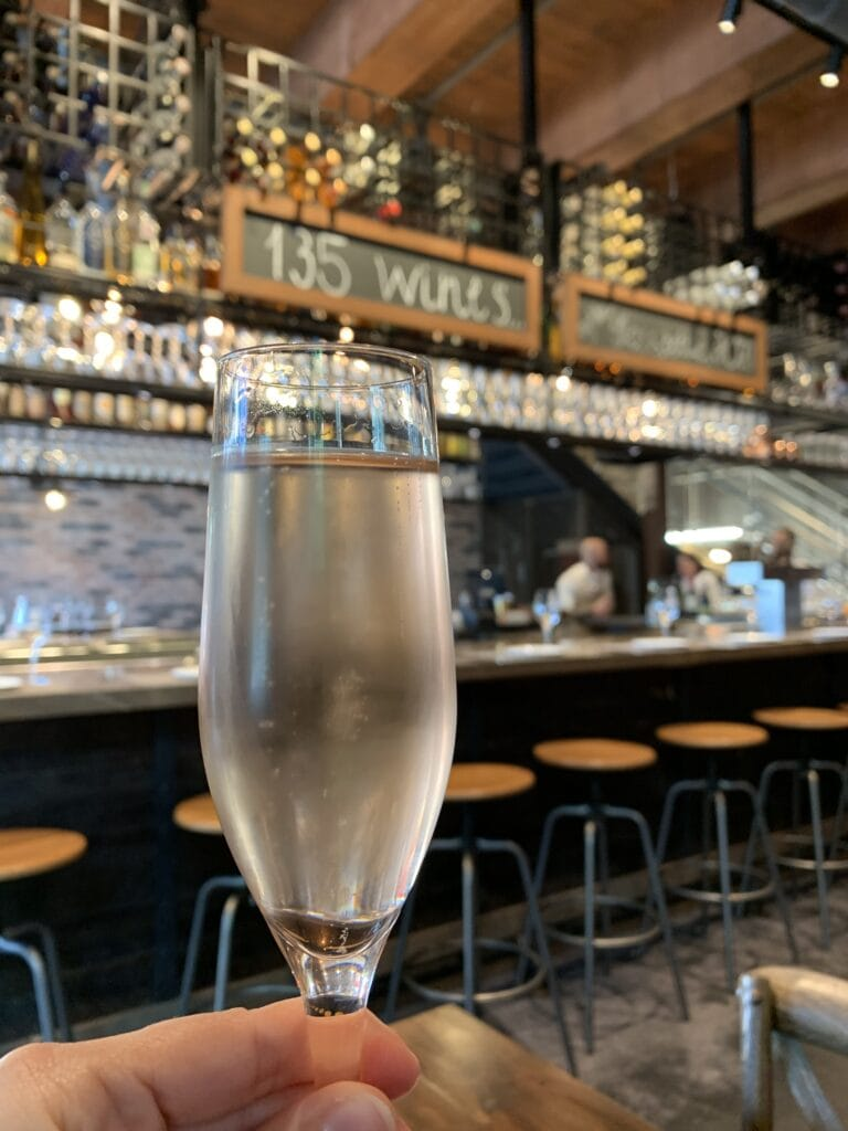 Champagne Glass At Wine Bar George