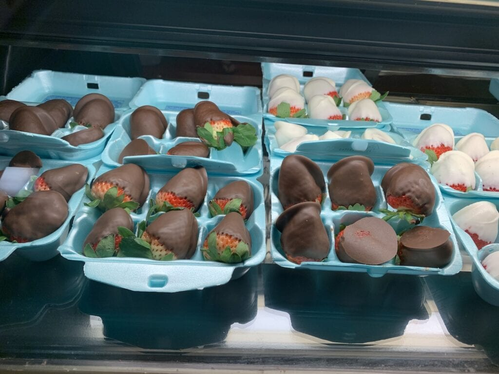 Chocolate Dipped Strawberries in egg cartons