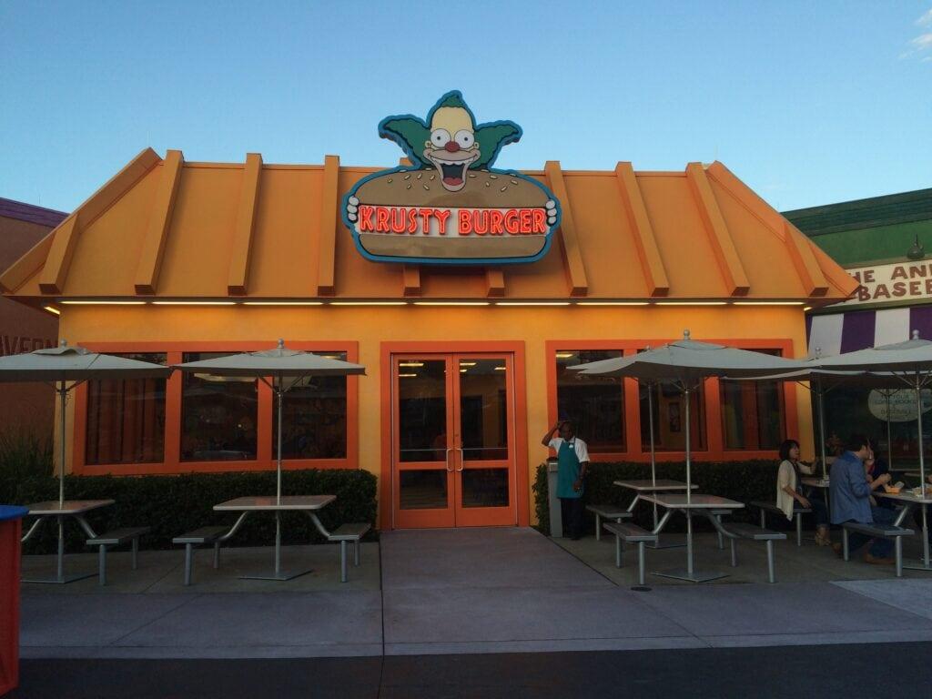 Krusty Burger restaurant Universal Orlando Resort