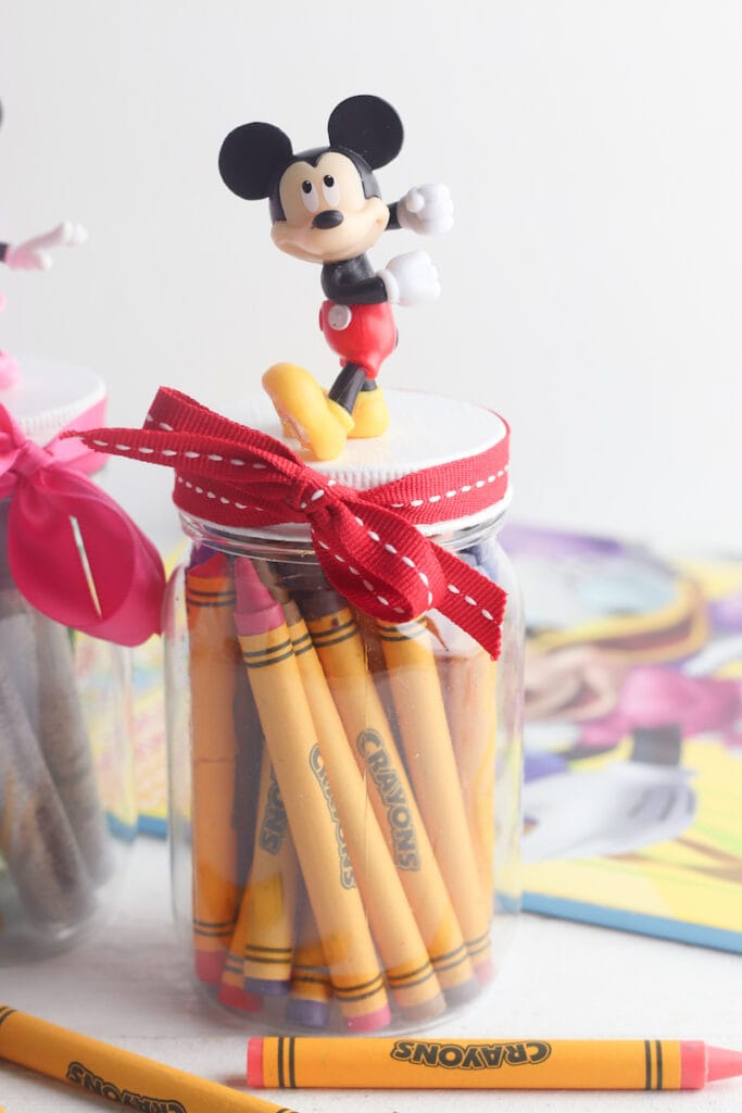Mickey Mouse storage jar DIY Craft