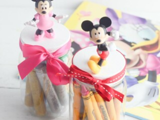 mickey and Minnie Mouse storage jars DIY craft