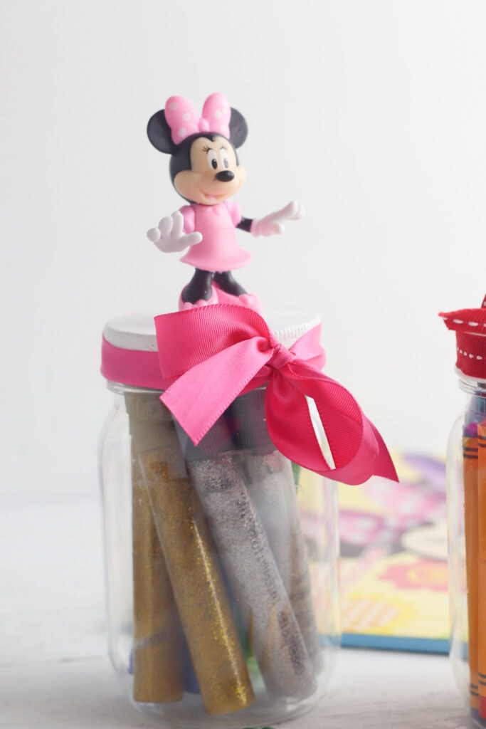 Minnie Mouse storage jar DIY