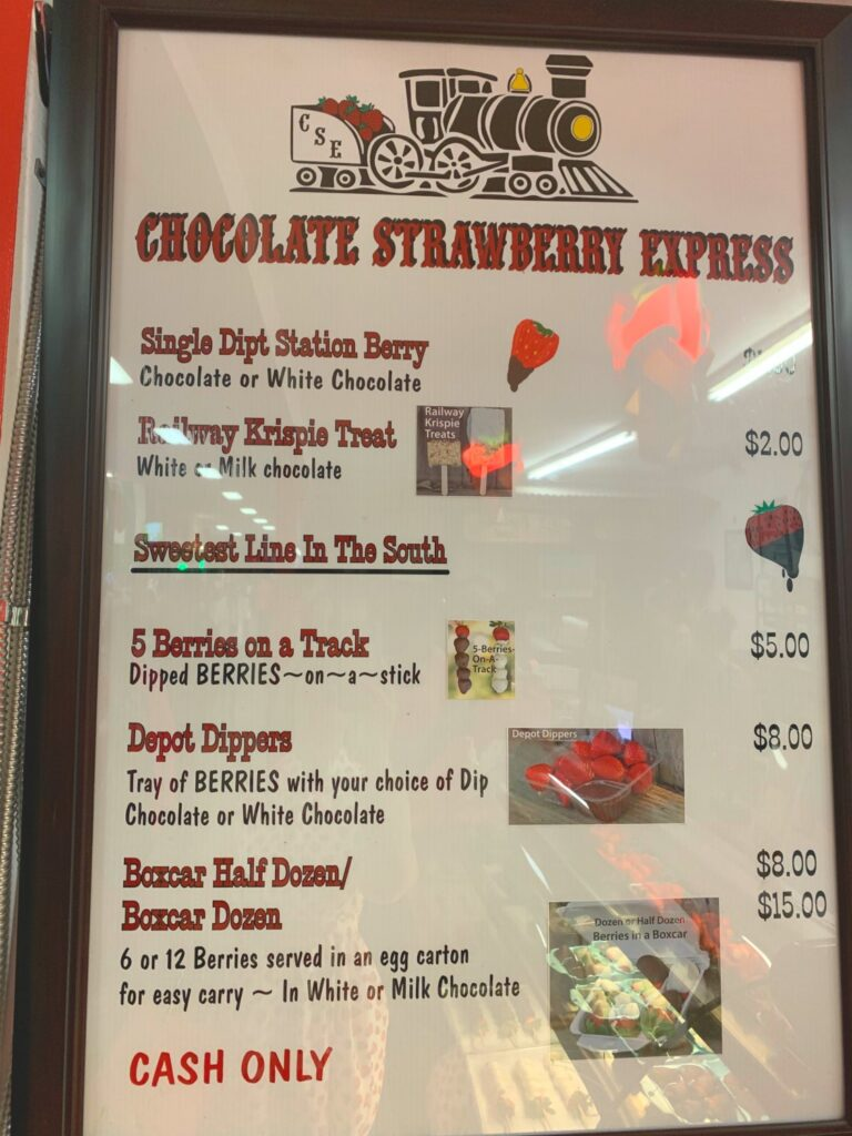 Florida strawberry festival menu