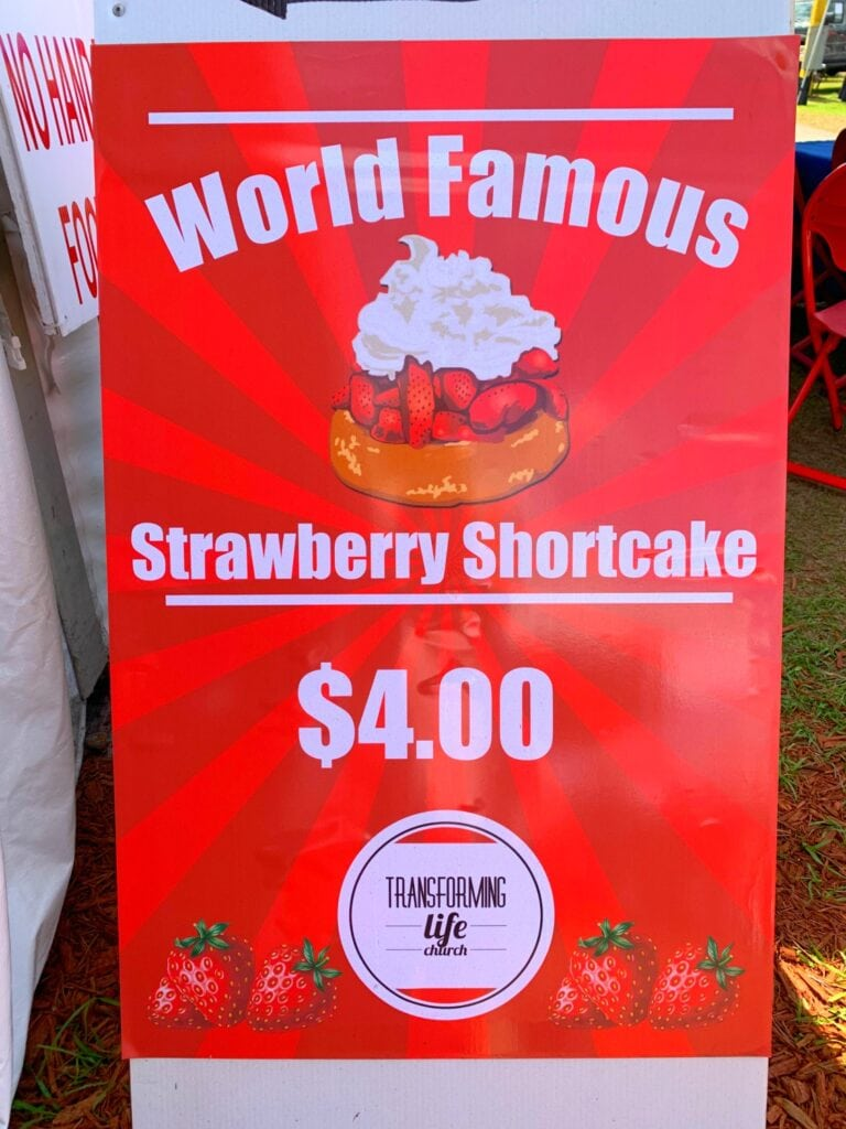 strawberry shortcake sign