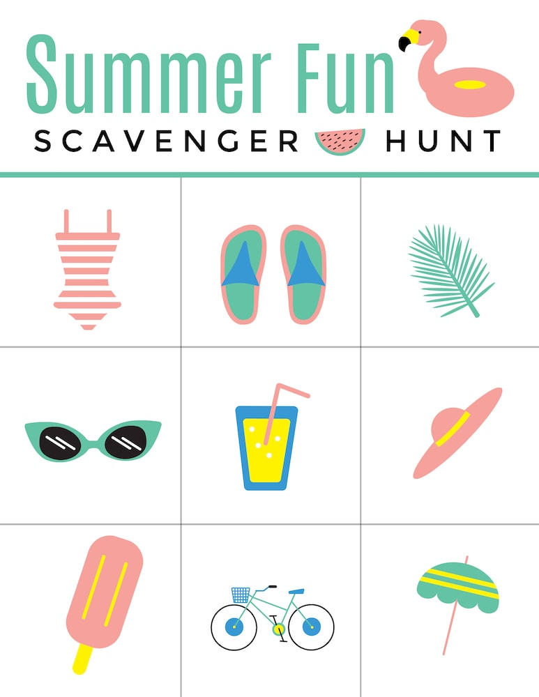 Summer fun scavenger hunt list