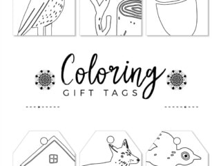nature inspired gift tags