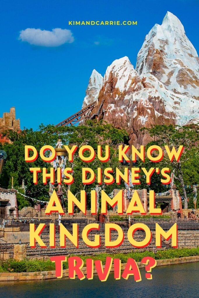 Mount Everest rising against blue sky at Disney theme park