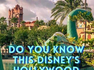 dinosaur statue in Disneys Hollywood Studios