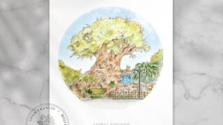 Disney's Animal Kingdom | Tree of life | Art Print. Taken from my detailed pen drawing & watercolour painting.