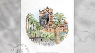 Hollywood Tower Hotel | Disney's Hollywood Studios. Prints from my detailed illustration. Magic Kingdom drawing | Disney Art