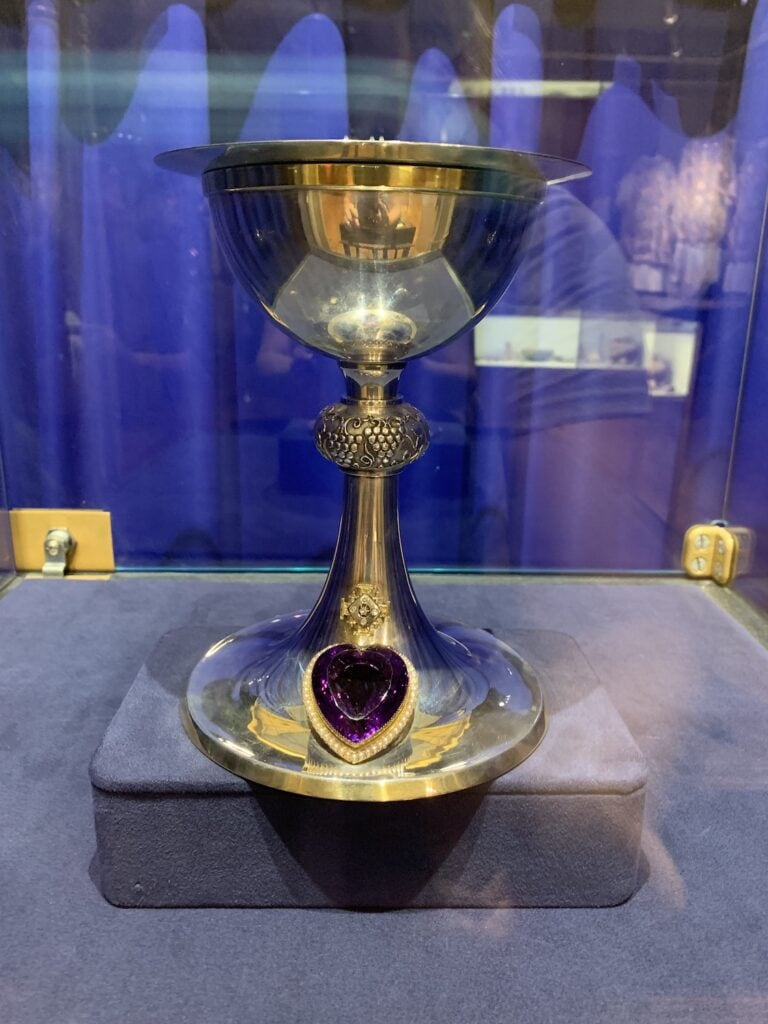 rare chalice with gemstone