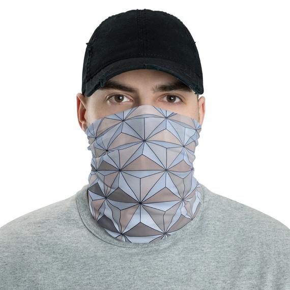 Epcot Spaceship Earth Inspired Neck Gaiter / Snood