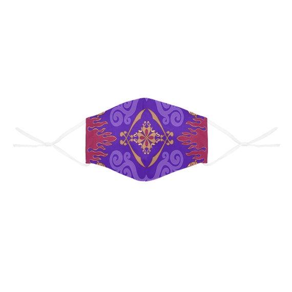 Magic Carpet Aladdin Inspired Face Mask with Filter Pocket