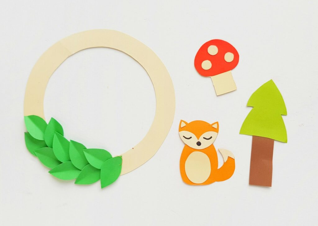 paper templates mushroom tree fox
