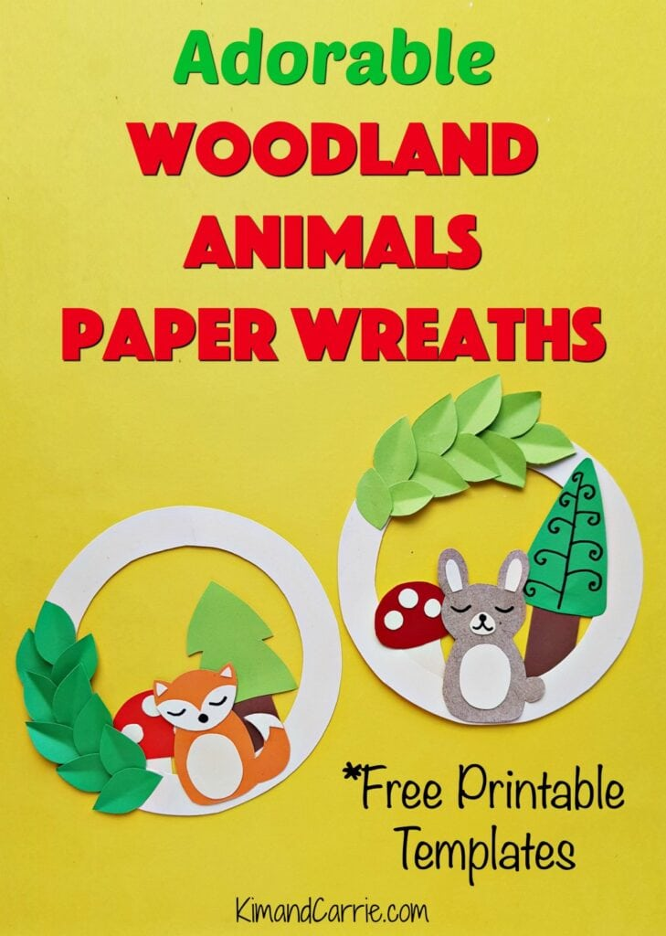 woodland animals paper wreaths craft