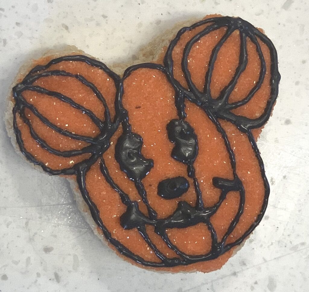 homemade halloween Mickey Mouse Rice Krispy treat snack