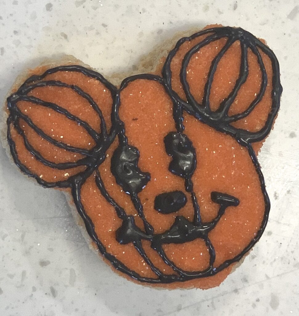 Mickey Mouse pumpkin Rice Krispy treat homemade