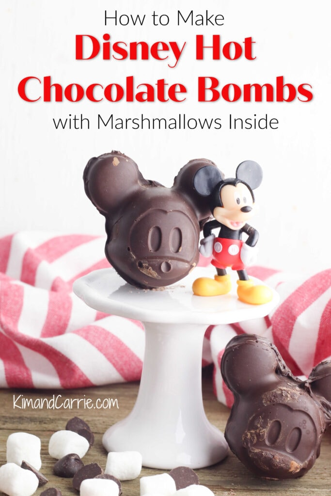 chocolate shaped Mickey Mouse heads next to plastic Mickey figurine