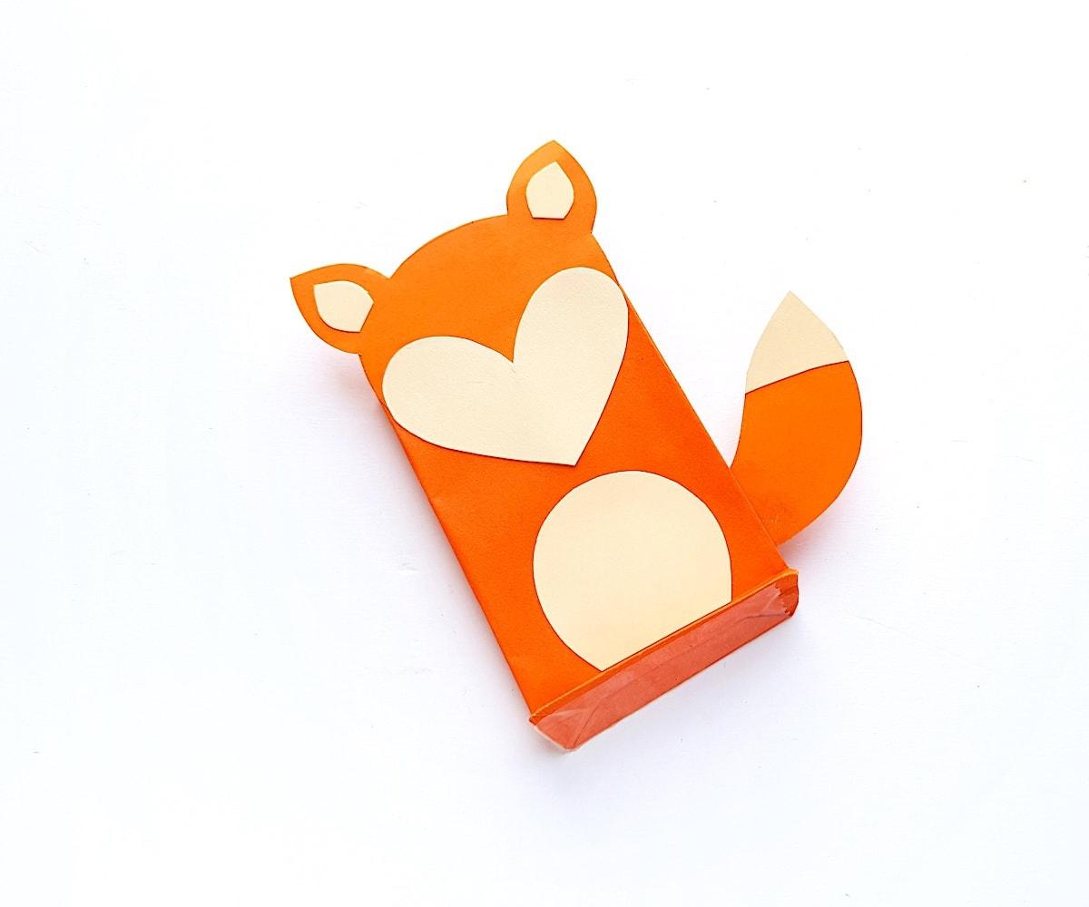 Paper Bag Puppet Fox Templates Step 6