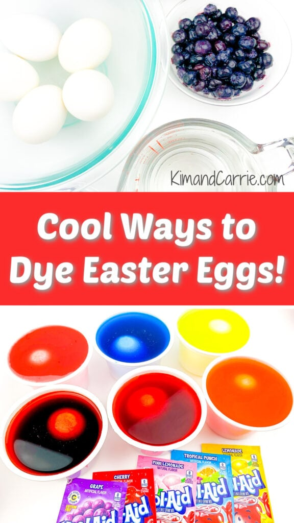 dyeing eggs with food ingredients